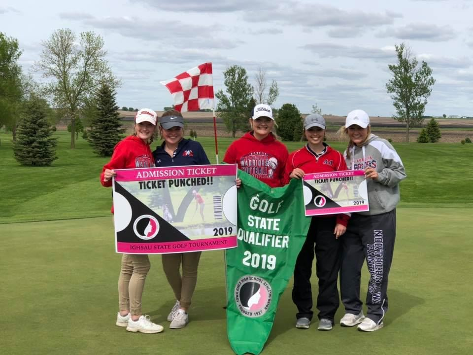 Girls Golf Qualifies for State